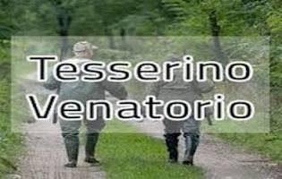 DISTRIBUZIONE DEI TESSERINI VENATORI STAGIONE VENATORIA 2019/2020